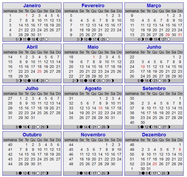 Calendário 2013 - Novo