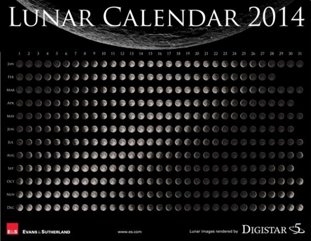 Calendário Lunar - Online24