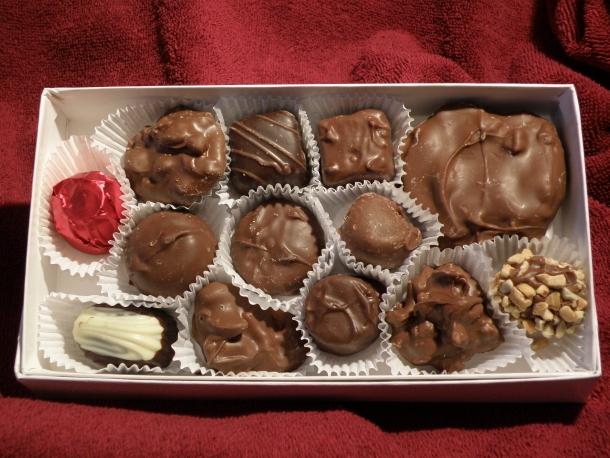 Chocolates de São Valentim