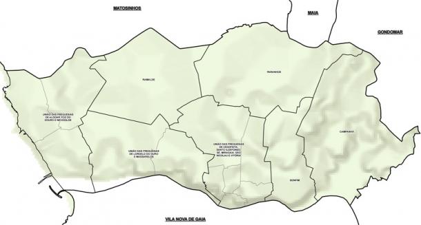 mapa freguesias concelho porto Novas Freguesias do Porto  Online24 mapa freguesias concelho porto
